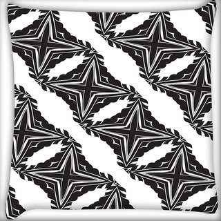 Snoogg Grey Stars Digitally Printed Cushion Cover Pillow 16 x 16 Inch