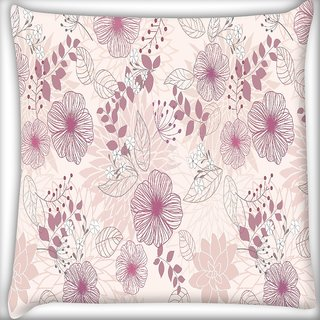 Snoogg Floral Petals Digitally Printed Cushion Cover Pillow 16 x 16 Inch