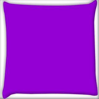 Snoogg Plain Purple Digitally Printed Cushion Cover Pillow 16 x 16 Inch
