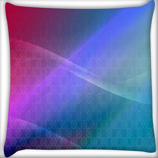 Snoogg Abstract Multiolor Wall Digitally Printed Cushion Cover Pillow 16 x 16 Inch