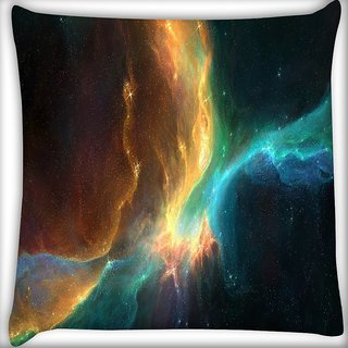 Snoogg Space Ships Digitally Printed Cushion Cover Pillow 16 x 16 Inch