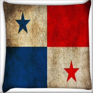 Snoogg Panama Digitally Printed Cushion Cover Pillow 16 x 16 Inch