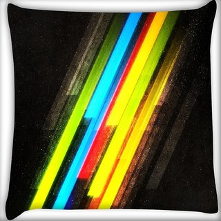 Snoogg Multicolor Design Digitally Printed Cushion Cover Pillow 16 x 16 Inch