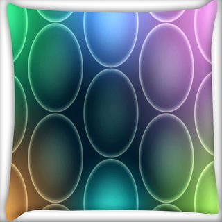 Snoogg Colorful Bubbles Digitally Printed Cushion Cover Pillow 16 x 16 Inch