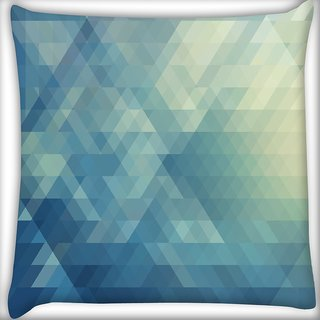 Snoogg Abstract Blue Pattern Digitally Printed Cushion Cover Pillow 16 x 16 Inch