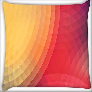 Snoogg Colorful Circles Digitally Printed Cushion Cover Pillow 16 x 16 Inch