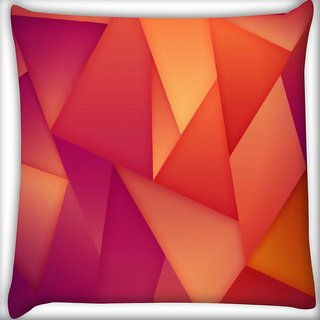 Snoogg Abstract Dark Pattern Design Digitally Printed Cushion Cover Pillow 16 x 16 Inch