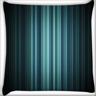 Snoogg Multicolor Design In Black Digitally Printed Cushion Cover Pillow 16 x 16 Inch