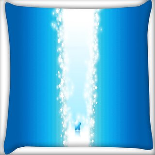 Snoogg Sparkling Star Digitally Printed Cushion Cover Pillow 16 x 16 Inch