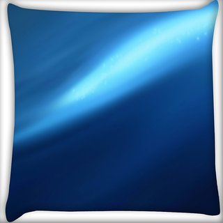 Snoogg Abstract Blue Pathway Digitally Printed Cushion Cover Pillow 16 x 16 Inch