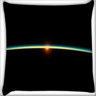 Snoogg Solar Sun Digitally Printed Cushion Cover Pillow 16 x 16 Inch