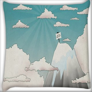 Snoogg Are We There Yet Digitally Printed Cushion Cover Pillow 16 x 16 Inch