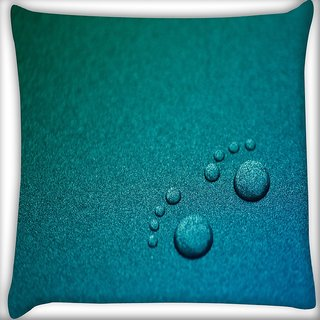 Snoogg Small Foot Prints Digitally Printed Cushion Cover Pillow 16 x 16 Inch