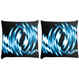 Snoogg Pack Of 2 Flux Digitally Printed Cushion Cover Pillow 8 X 8 Inch