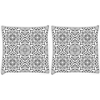 Snoogg Pack Of 2 Birthday Gift Digitally Printed Cushion Cover Pillow 8 X 8 Inch