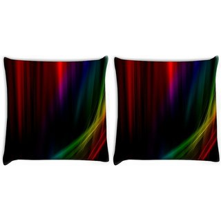 Snoogg Pack Of 2 Abstract Design Digitally Printed Cushion Cover Pillow 8 X 8 Inch