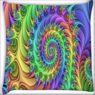 Snoogg Multicolor Abstract Design Digitally Printed Cushion Cover Pillow 14 x 14 Inch