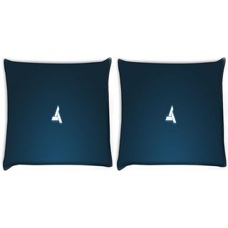 Snoogg Pack Of 2 Abstergo Logo Game Digitally Printed Cushion Cover Pillow 8 X 8 Inch