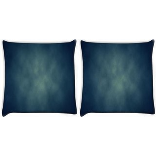 Snoogg Pack Of 2 Blue Grunge Texture Abstract Digitally Printed Cushion Cover Pillow 8 X 8 Inch