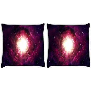 Snoogg Pack Of 2 Gateway Digitally Printed Cushion Cover Pillow 8 X 8 Inch