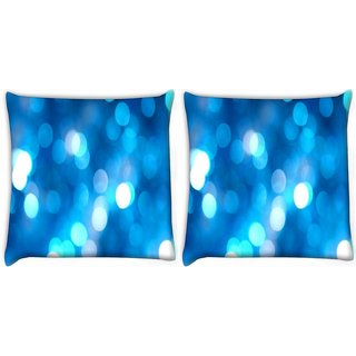 Snoogg Pack Of 2 Abstract Blue Backgrounds Digitally Printed Cushion Cover Pillow 8 X 8 Inch