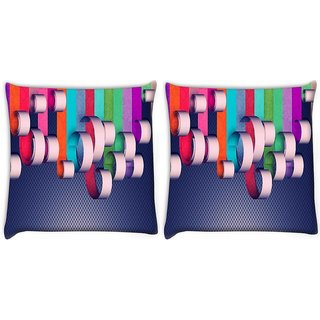 Snoogg Pack Of 2 House Paint Digitally Printed Cushion Cover Pillow 8 X 8 Inch