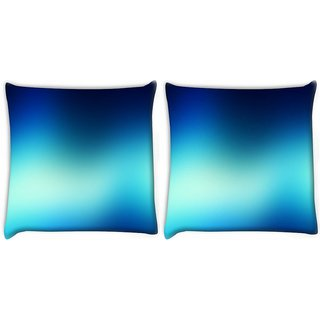 Snoogg Pack Of 2 Blur Wallpapers Digitally Printed Cushion Cover Pillow 8 X 8 Inch