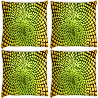 Snoogg Pack Of 4 Small Abstract Design Digitally Printed Cushion Cover Pillow 8 X 8 Inch