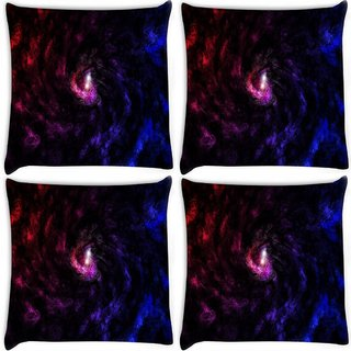 Snoogg Pack Of 4 Deep Abstract Widescreen Digitally Printed Cushion Cover Pillow 8 X 8 Inch