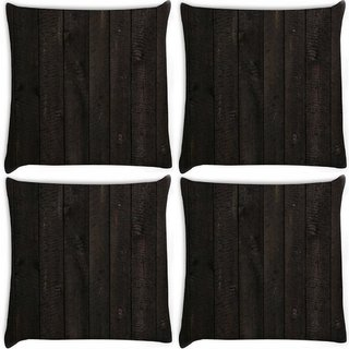 Snoogg Pack Of 4 Opera Wood Digitally Printed Cushion Cover Pillow 8 X 8 Inch