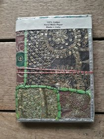 patchwork diary with recycled handmade paper diary Rajasthani look handwork