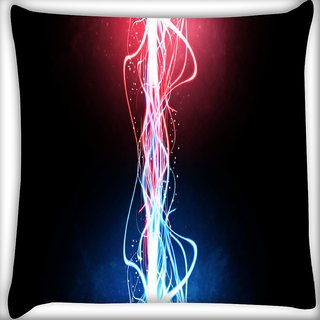 Snoogg Neon Multicolor Rays Digitally Printed Cushion Cover Pillow 24 X 24 Inch