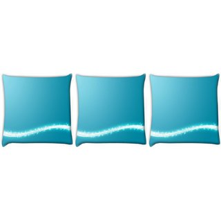 Snoogg Pack Of 3 Sparkling Layer Digitally Printed Cushion Cover Pillow 24 X 24Inch