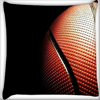 Snoogg Basketball Digitally Printed Cushion Cover Pillow 24 X 24 Inch