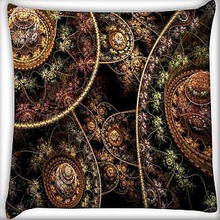 Snoogg Fractal Domes Digitally Printed Cushion Cover Pillow 24 X 24 Inch