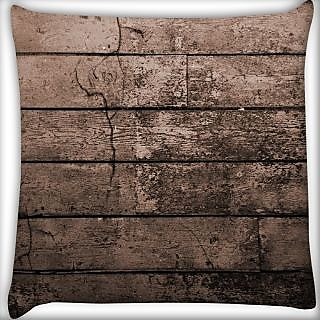 Snoogg Old Wood Textures Digitally Printed Cushion Cover Pillow 24 X 24 Inch