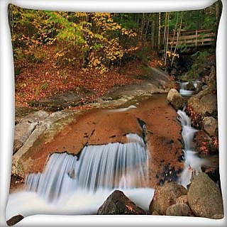 Snoogg Water Flowing Down Digitally Printed Cushion Cover Pillow 24 X 24 Inch