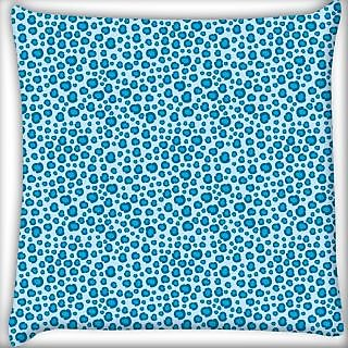 Snoogg Abstract Mixed Blue Pattern Digitally Printed Cushion Cover Pillow 24 X 24 Inch