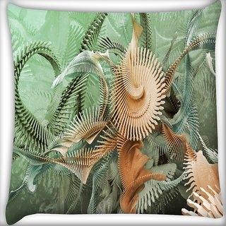 Snoogg Fractal Stairs Digitally Printed Cushion Cover Pillow 24 X 24 Inch