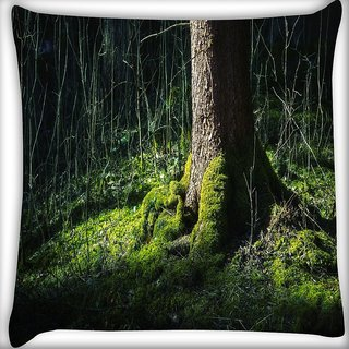Snoogg Huge Tree Digitally Printed Cushion Cover Pillow 24 X 24 Inch