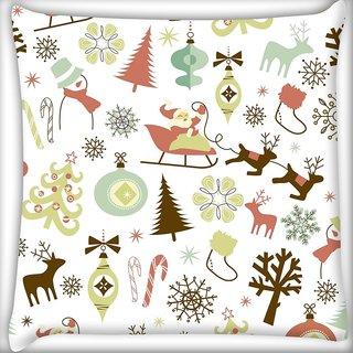Snoogg Christmas Season Digitally Printed Cushion Cover Pillow 24 X 24 Inch