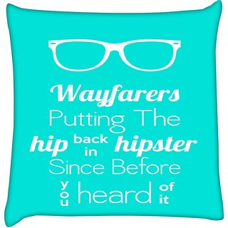 Snoogg WAYFARERS COOLER BEFORE YOU KNOW  Digitally Printed Cushion Cover Pillow 24 X 24 Inch