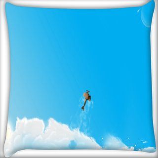 Snoogg Helicopter Digitally Printed Cushion Cover Pillow 24 X 24 Inch