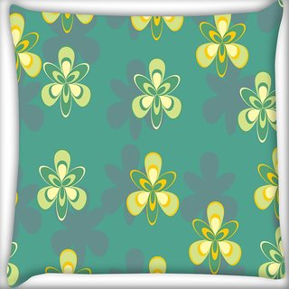 Snoogg Pattern Design In Green Digitally Printed Cushion Cover Pillow 24 X 24 Inch