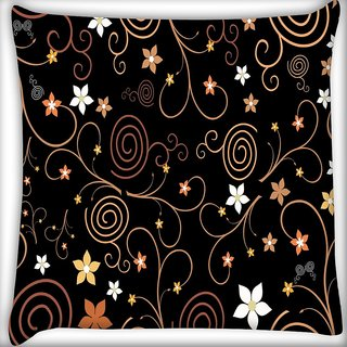 Snoogg Abstract Colorful Flowers Digitally Printed Cushion Cover Pillow 24 X 24 Inch