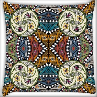 Snoogg Abstract Multicolor Design Digitally Printed Cushion Cover Pillow 24 X 24 Inch