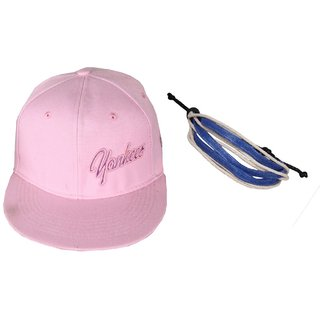 53d36a92452 Buy sushito Stylish Pink Cap Combo Wrist Band JSMFHCP1061N Online   ₹360  from ShopClues
