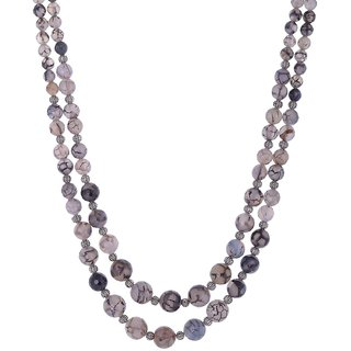 Bead Designs Grey Beads Necklace