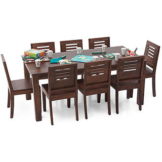 Geet Solid Wood 8 Seater Dining Table Set