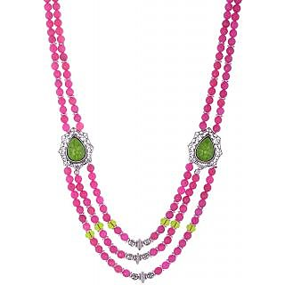 Bead Designs Pink Beads Necklace